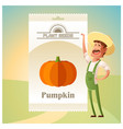pack pumpkin seeds vector image vector image