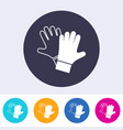 protective gloves must be worn icon vector image vector image
