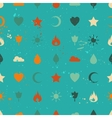 Random retro vintage icons seamless pattern vector image vector image