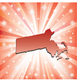Red Massachusetts vector image