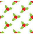 red mistletoe seamless pattern on a white vector image vector image