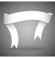Ribbon banner white paper vector image vector image