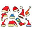 santa stocking cap vector image vector image