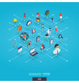science integrated 3d web icons digital network vector image vector image