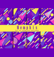 seamless geometric patterns of memphis style vector image vector image