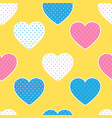 seamless pattern with colorful hearts silhouettes vector image vector image