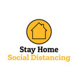 self quarantine and and social distancing concept vector image vector image