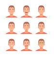set male facial emotions vector image vector image