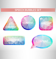 Set of geometric speech balloons or talk bubbles vector image