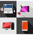 Set of high tech icons vector image vector image