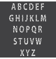 Sketch textured font vector image vector image