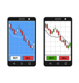 Smatrphone with forex chart vector image