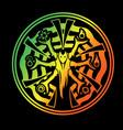 stylized art with magic spirit vector image