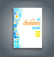 summer blank vector image vector image