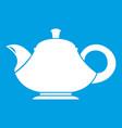teapot icon white vector image