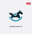 two color rocking horse toy icon from toys vector image vector image