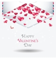 Valentine day cards design with hearts vector image vector image