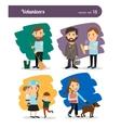 Volunteers characters vector image