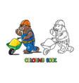 walrus worker abc coloring book alphabet w vector image vector image