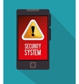 warning security system technology phone icon vector image vector image