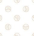 donuts outline seamless pattern vector image