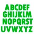 Green Textile Alphabet vector image