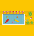 pool banner flat style vector image