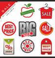 set signs for sale vector image