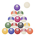 a collection of all the pool or snooker balls with vector image
