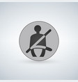 the seat belt warning icon safety belt car symbol vector image