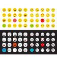 78 smileys set vector image vector image