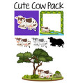 a pack of cow vector image vector image