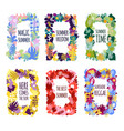 abstract floral frames vector image