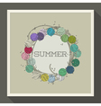 Abstract summer design with colorful beads vector image vector image