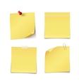 Adhesive Notes vector image vector image