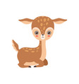 adorable badeer forest fawn animal vector image vector image
