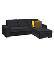 big black sofa vector image
