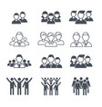 business team symbols people corporate crowd vector image