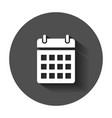 calendar agenda icon in flat style reminder with vector image vector image