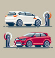car charging station vector image
