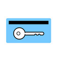 card key symbol card key icon on white vector image vector image