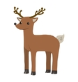 cartoon flat funny deer mascot vector image vector image
