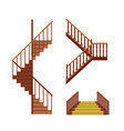 cartoon stairs set vector image vector image