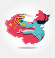 chinese culture dragon icon vector image