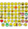 Classic retro style 54 smileys vector image vector image