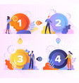 Concept different options steps
