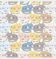 cute cat sleep seamless pattern vector image