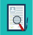 cv data personal resume document id profile vector image