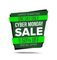 cyber monday sale banner website sticker vector image vector image