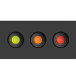 dark buttons with green orange and red color vector image vector image